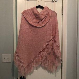 BCBG Maxazria pink shawl